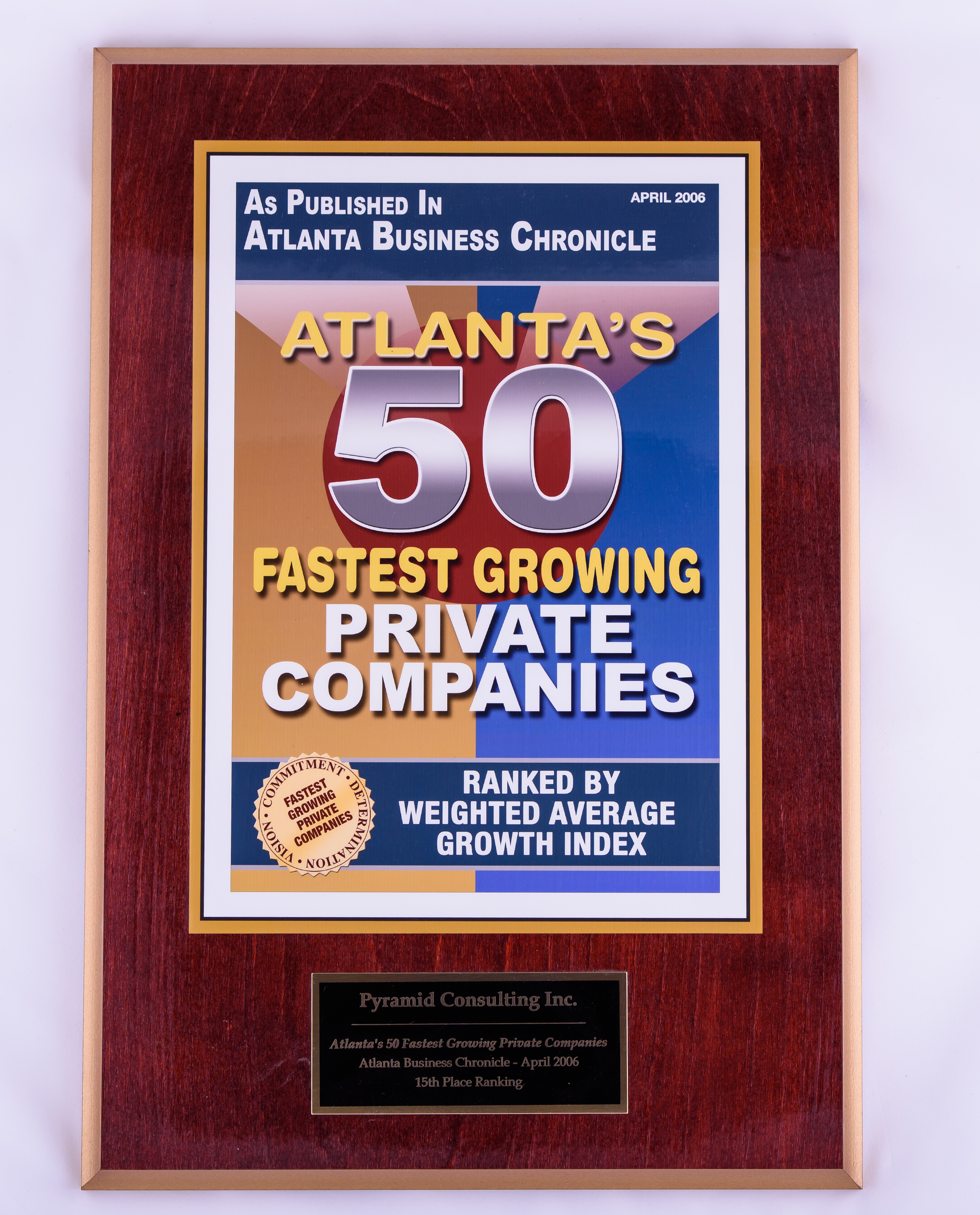 2006 Atlanta's Top 50 Fastest Growing Private Companies