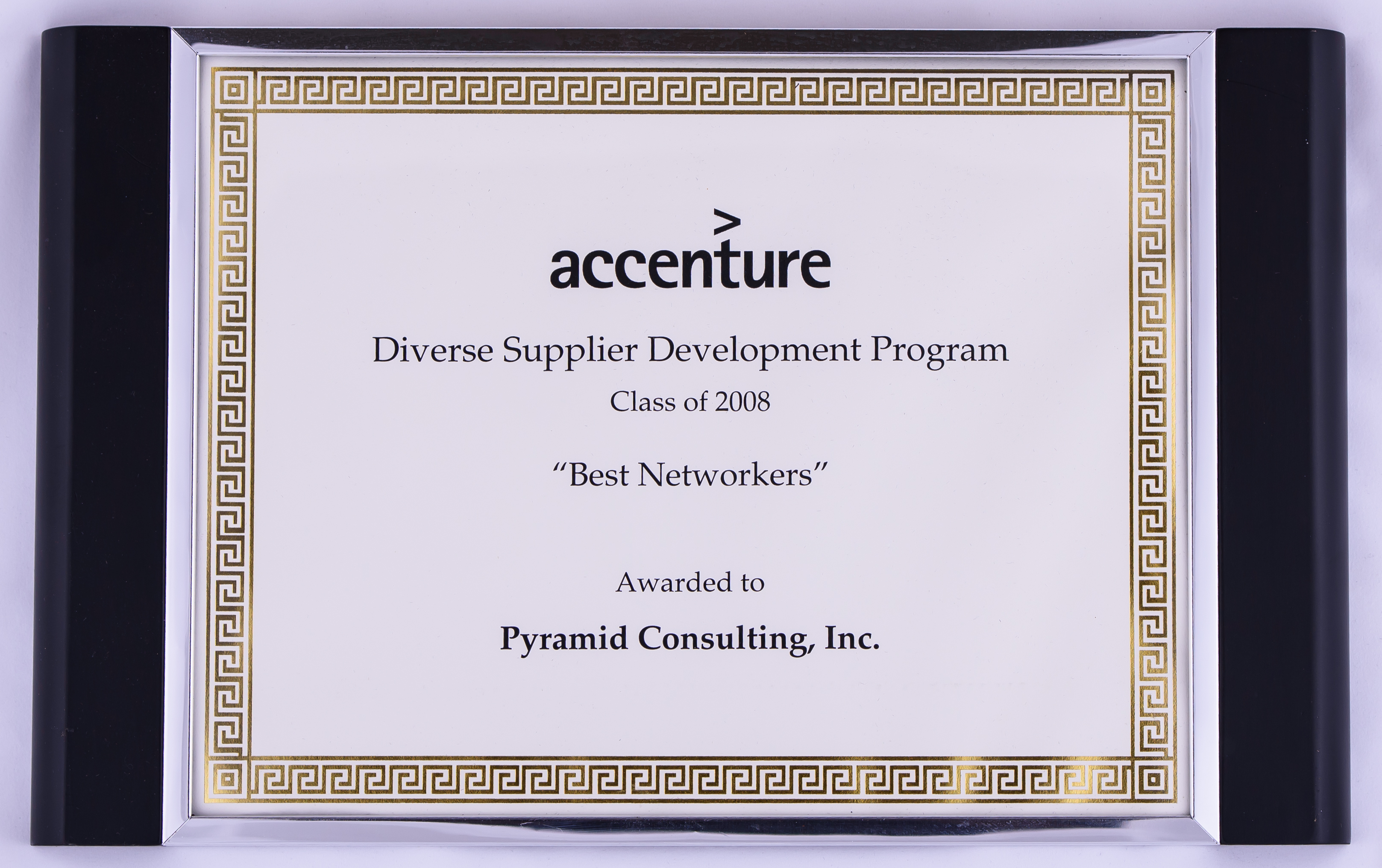 2008 Diverse Supplier Development Program Best Networkers